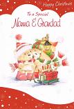 Nanna & Grandad Xmas - 2 Bears/Lamp