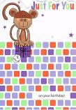 Cute Birthday - Brown Monkey
