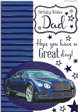 Dad Birthday Blue Car