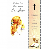 Daughter First Communion - Girl/Cross