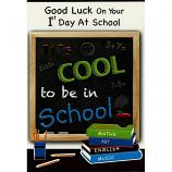 First Day At School - Blackboard