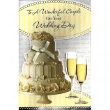 Wedding Day - Lge Cake/Flutes