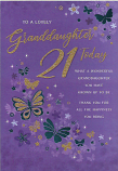 Granddaughter 21st Birthday Large Mauve Background
