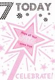 Girl Age 7 - Mauve Stars