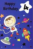 Boy Age 4 - Space