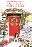 Mum & Dad Christmas - Red Door / Dog
