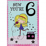 Girl Age 6 -  Blond Girl Singing