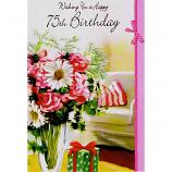 75th Birthday - F Vase Flowers