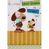 Father's Day Great-Grandad - Cute Dogs