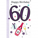 60th Birthday - F Lge Purple 60