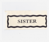 Personalised Label - Sister