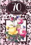 70th Birthday Female Yellow Rose