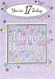 Girl Age 17 - Square Happy Birthday