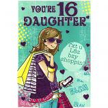 Daughter 16th Birthday - Girl Brown Hair