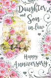 Daughter & Son-in-law Anniversary Large - Pink Roses
