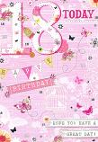 18th Birthday Female - Pink Background