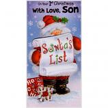 Son's 1st Xmas - Santa/List