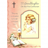Granddaughter First Communion - Girl Praying