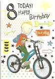 Boy Age 8 Boy/Bike