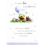 Son 1st Birthday - Bear/Balloon