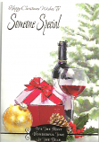 Someone Special Xmas Wine/Red Bow