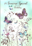 Someone Special Birthday Gold Butterfly's