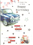 Male Birthday Blue Car/Parcels
