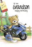 Grandson Birthday - Bear/Motorbike