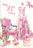 21st Birthday Female Long Dress