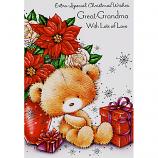 Great-Grandma Xmas - Bear/Flowers