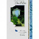 One I Love Birthday - Lge Blue Shed