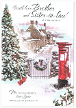 Brother & Sister-in-law Xmas Large - Post Box