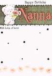 Nanna Birthday - Bear/Flower