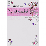 Nan & Grandad Anniversary - Flowers/Hearts