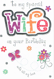 Wife Birthday Large - Pattern Wife