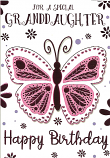 Granddaughter Birthday Large Butterfly