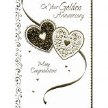Golden Anniversary - Lge Hearts
