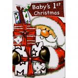 Babys 1st Xmas - Lge Santa/Gifts