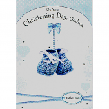 Godson Christening - Blue Boottees