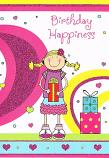 Girl Birthday - Girl Pigtails