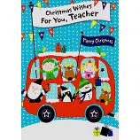 Teacher Xmas - Red Bus