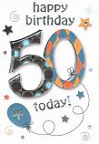 50th Birthday Large - M. Pattern 50