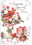 Someone Special Xmas Large - Flowers/Stripe Bow