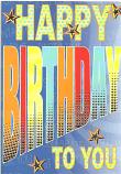 Male Birthday Stipe Birthday