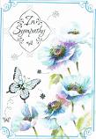 Sympathy - Blue Flowers
