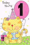 Girl Age 1 - Orange Cat