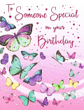 Someone Special Birthday - Coloured Butterflies