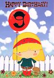 Girl Age 9 - Girl/Balloon