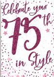 75th Birthday F Sparkle 75