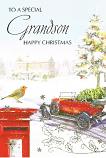 Grandson Xmas - Postbox/Robin